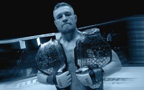 Picture fighter, fighter, mma, ufc, mixed martial arts, championship belt, conor mcgregor, Conor McGregor