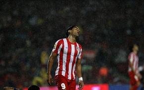 Picture Rain, Football, Spain, Club, Player, Atletico Madrid, The shower, Atletico Madrid, The tiger, Radamel Falcao, …