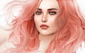 Picture girl, face, hair, portrait