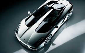 Picture silver, Lamborghini, Concept S, metallic