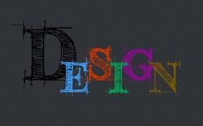 Picture design, grey, background, the inscription