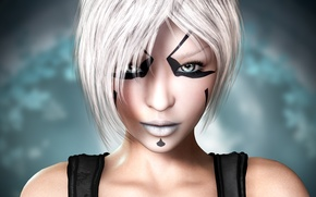 Picture face, white hair, Star Wars: The Old Republic, Nadia Grell