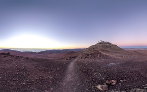 Picture Observatory, Chile, Paranal Observatory, road of astronomy paradise