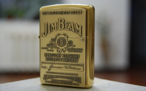 Picture zippo, gold, lighter