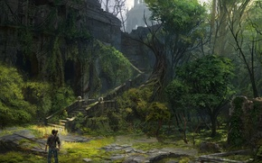 Picture Game, Art, Game, Naughty Dog, Nathan Drake, Uncharted 2: Among Thieves