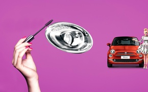 Wallpaper auto, style, mascara, purple, FIAT