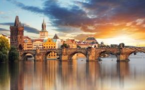 Picture summer, the city, blur, Prague, Czech Republic, bokeh, Prague, view, travel, Praga, Charles bridge, wallpaper., …
