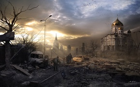 Picture the city, Moscow, art, the end of the world, nuclear war, post