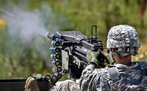 Picture soldiers, MK 19, automatic grenade launcher, army