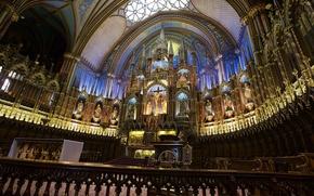 Picture Canada, Church, religion, the altar, The Notre Dame Basilica, Basilique Notre Dame de Montreal