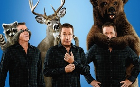 Picture bear, man, Last Man Standing, alliance, pose, deer, show, executive, raccoon, TV series, corsa, tv …