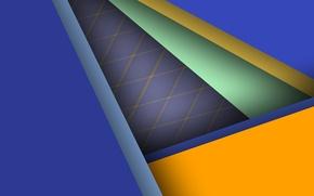 Wallpaper line, blue, geometry, green, color, material, desing