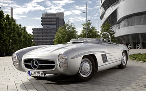 Picture grey, Mercedes benz, 1957, Mercedes Benz, 300 sls