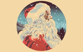 Picture hat, figure, New Year, Christmas, beard, Santa Claus, Christmas, New Year, Xmas, Merry
