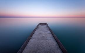 Picture the sky, lake, the evening, horizon, Canada, pierce, Ontario