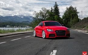 Picture Audi, Vossen, Silver, Wheels, Polished, CV4