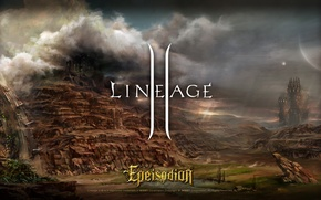 Picture clouds, tower, Lineage 2, lineage, line, la2, lineage, Goddess of Destruction, epeisodion