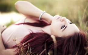 Picture grass, redhead, pose, susan coffey