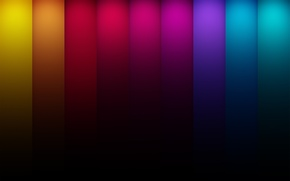 Picture color, line, blue, red, abstraction, strip, yellow, colors, green lines