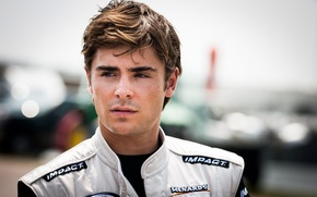 Picture look, face, the inscription, hair, actor, male, guy, actor, Zac Efron, Zac Efron