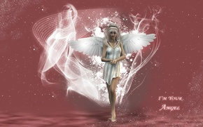 Picture magic, wings, blonde, I`m your Angel