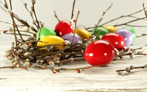 Picture eggs, Easter, Verba, eggs, easter, willow twig