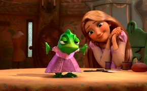 Picture dress, Rapunzel, Pascal, Rapunzel: a Tangled tale