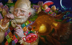 Picture childhood, magic, lullaby, Victor Nizovtsev, grandpa's tales