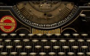 Picture macro, button, typewriter, Underwood
