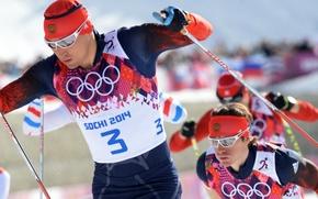 Picture Skiers, Russia, Olympics, Champions, Sochi 2014, Alexander Legkov, ski marathon, Maxim Vylegzhanin
