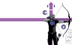 Picture pose, technique, bow, form, arrows, Marvel Comics, Hawkeye