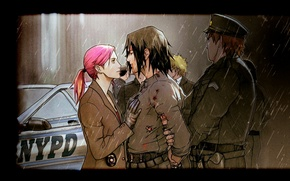 Picture Police, Rain, Sakura Haruno, Naruto Uzumaki, Sasuke Uchiha, Fan Art, Naruto Uzumaki, Sakura Haruno, Now …