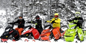 Picture trees, Snow, Snowmobile, Snowmobile, Ski For