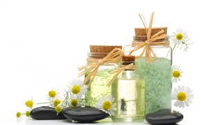 Picture oil, chamomile, Spa, sea salt, Spa stones