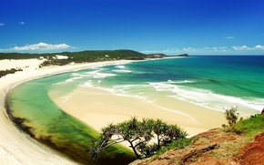 Wallpaper nature, water, beach, sand