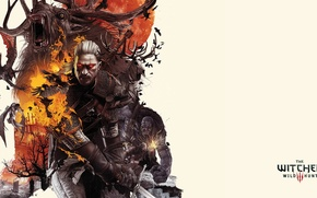 Picture Geralt, the devil, White wolf, The Witcher 3 Wild Hunt, The Witcher 3 Wild Hunt, …