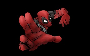 Picture red, black, Deadpool, men, mutant