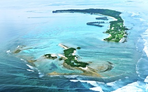 Picture Islands, the ocean, The Maldives, Maldives from air