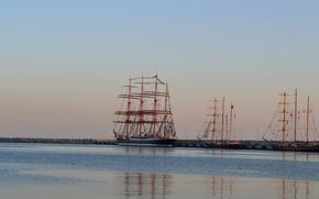 Picture sunset, Sea, Sochi, regatta