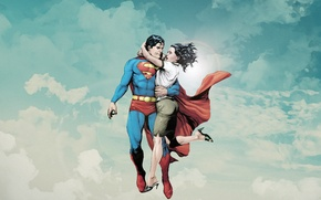 Wallpaper comics, Superman, dc universe, Lois Lane