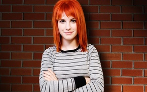 Picture smile, singer, red, celebrity, Hayley Williams