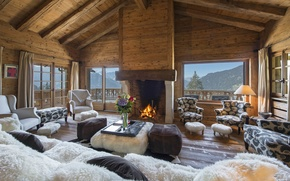 Picture design, style, room, interior, fireplace, ranch