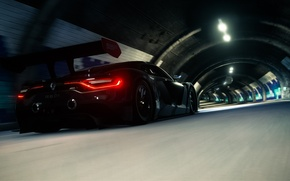 Picture road, lights, dark, sport, the tunnel, renault, subway, rear, driveclub