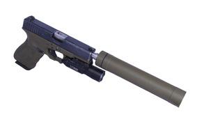 Picture gun, weapons, Glock, muffler, self-loading
