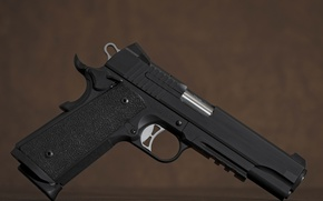 Picture Tacops 1911, Sig Sauer, background, gun