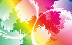 Picture color, abstraction, balls, paint, art