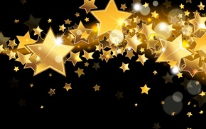 Picture stars, lights, background, gold, Shine, golden, gold, glow, background, stars, sparkle, glitter