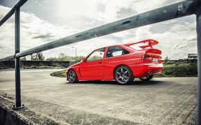 Picture car, machine, red, Wallpaper, red, car, ford, Ford, auto, wallpapers, walls, cosworth, escort, Cosworth, escort