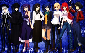 Picture Anime, Fate/Stay Night, Girls, Kara no Kyoukai, Ryougi Shiki, Type-Moon, Caren Hortensia, Ciel, Aozaki Aoko, …
