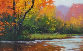 Wallpaper ART, FIGURE, ARTSAUS, AUTUMN STREAM